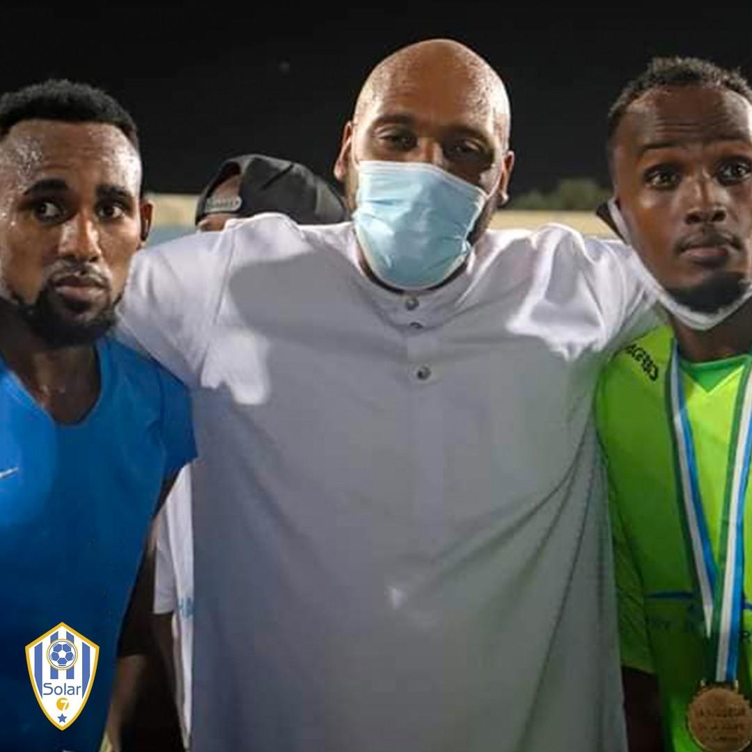 Tommy Tayoro le président de l'équipe As Arta Solar 7 à Djibouti, lors de la saison 2020 et le sacre du club qui remporte la coupe de Djibouti pour la deuxième année consécutive